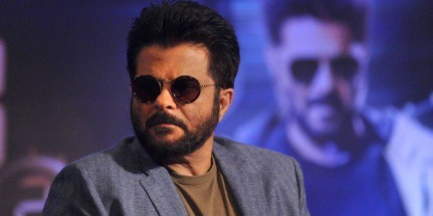 Indian Bollywood actor Anil Kapoor poses during the press meet and poster launch of his Produce Colors...
