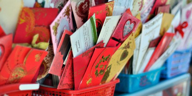 Homemade greeting cards, downtown Phnom