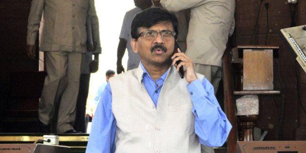 NEW DELHI, INDIA - MARCH 9: Shiv Sena Rajya Sabha MP from Maharashtra Sanjay Raut at Parliament during...