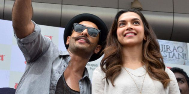 MUMBAI,INDIA SEPTEMBER 15: Ranveer Singh and Deepika Padukone at the launch from their upcoming move...