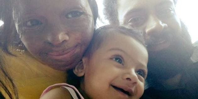 PHOTOS: Acid Attack Survivor Laxmi Proudly Poses With Her 7-Month-Old Daughter