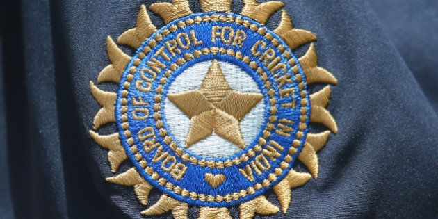 ADELAIDE, AUSTRALIA - DECEMBER 04: A detail of the Board of Control for Cricket in India (BCCI) emblem...