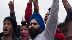 Sikhs In J&K Hold Protest Demanding Minority