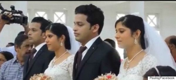 Twins Wed Twins In Kerala In The Presence Of Twin Priests And Twin Flower