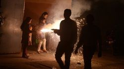 Fireworks Choked Delhi With Air, Noise Pollution This