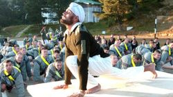 250 Indian And Russian Military Troops Are Taking Yoga Sessions At