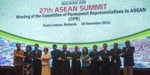 KUALA LUMPUR, MALAYSIA, NOVEMBER 18: Members of the Committee of Permanent Representatives to ASEAN,...