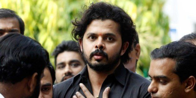 NEW DELHI, INDIA - JULY 25: Former Rajasthan Royals player S. Sreesanth comes out of Patiala House Court...