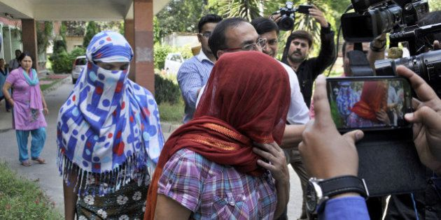NEW DELHI, INDIA - SEPTEMBER 9: The two Nepalese women who were allegedly harassed by Saudi diplomat...