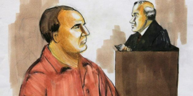 FILE - In this Dec. 9, 2009, file courtroom drawing David Coleman Headley, appears before U.S. District...