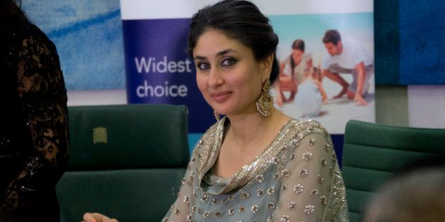 Indian actress Kareena Kapoor Khan smiles during a press conference at the launch of the Asian Sunday...