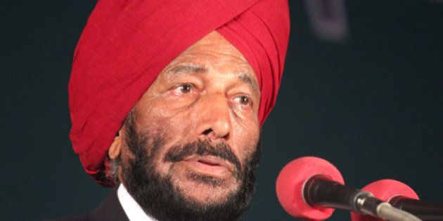 INDORE, INDIA DECEMBER 8: Former Indian track and field sprinter Milkha Singh also known as Flying Sikh...