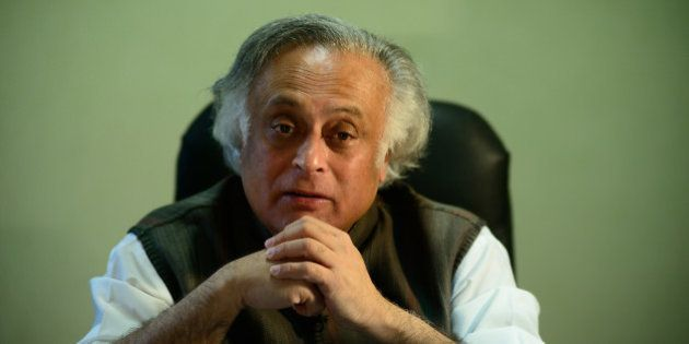 NEW DELHI, INDIA JANUARY 25: Union Rural Development Minister Jairam Ramesh during an interview at his office, on January 25, 2014 in New Delhi, India. (Photograph by Pradeep Gaur/Mint Via Getty Images)
