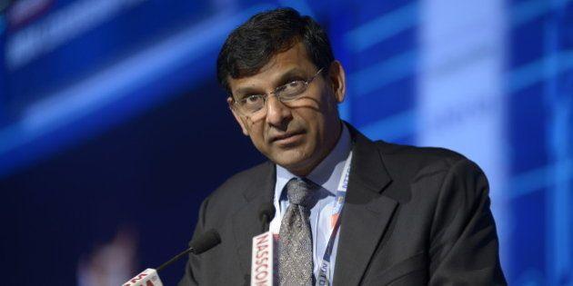 MUMBAI, INDIA FEBRUARY 12: Raghuram Rajan, Governor of Reserve Bank of India, speaks at the inaugural...