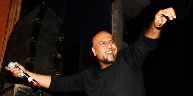Indian Bollywood music director and playback Vishal Dadlani performs during the Cancer Patient Aid Association...