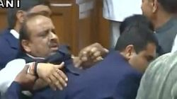BJP MLA Gupta Forcibly Evicted From Delhi
