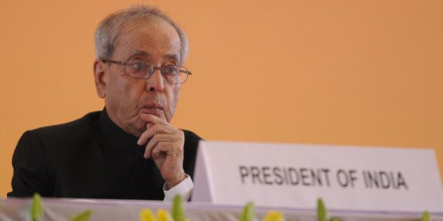 NEW DELHI, INDIA - NOVEMBER 14: President Pranab Mukherjee during the inauguration of the 35th Indian...