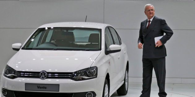 Volkswagen CEO Martin Winterkorn during the opening of the industrial fair in Hanover, Germany, Monday,...