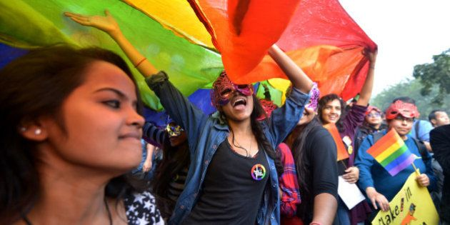 NEW DELHI, INDIA NOVEMBER 30: Members and supporters of the Lesbian, Gay, Bisexual, Transgender (LGBT)...