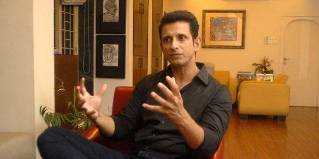 MUMBAI, INDIA - APRIL 7: Bollywood actor Sharman Joshi at his Carter Road residence at Bandra on April...