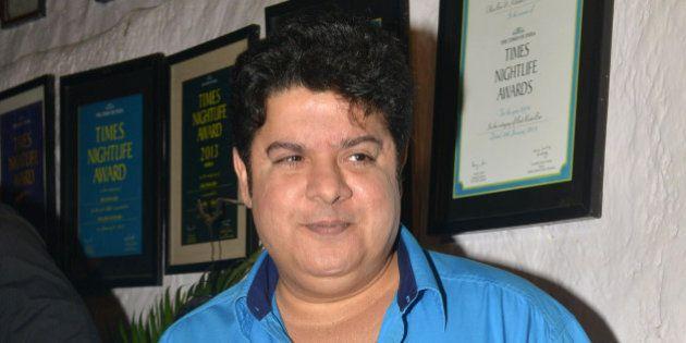 MUMBAI,INDIA NOVEMBER 30: Sajid Khan at the success party of the movie 'Tamasha' in Mumbai.(Photo by...