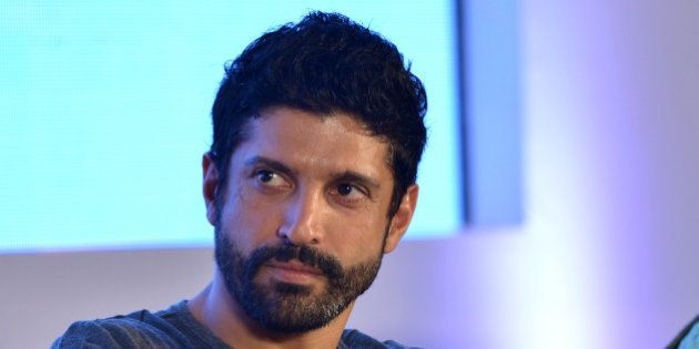 MUMBAI,INDIA APRIL 15: Farhan Akhtar at the launch of second season of trans-media serial Main Kuch Bhi...