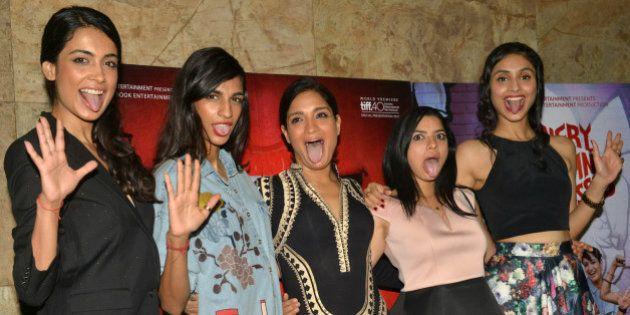 MUMBAI,INDIA NOVEMBER 30: Anushka Manchanda, Sarah-Jane Dias, Sandhya Mridul, Tannishtha Chatterjee and...