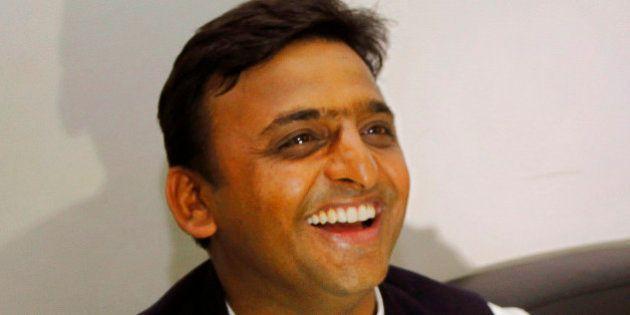 Akhilesh Yadav, general secretary of Samajwadi Party and son of the party President Mulayam Singh Yadav,...