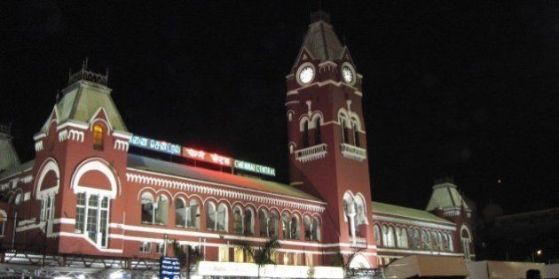 Chennai Central railway terminus. The most prominent landmark in