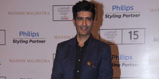 MUMBAI, INDIA - AUGUST 26: Bollywood fashion designer Manish Malhotra during the Lakme Fashion Week Winter/Festive...