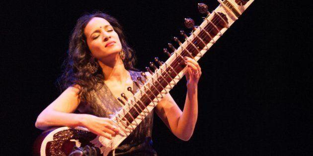 LONDON, UNITED KINGDOM - MAY 17: Anoushka Shankar performs on stage at Royal Festival Hall on May 23,...