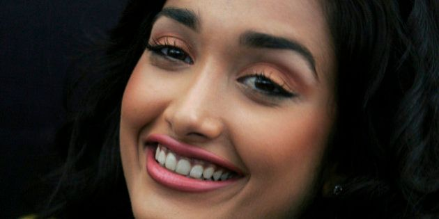 FILE - In this Dec. 19, 2008 file photo, Bollywood actress Jia Khan smiles during a promotional event...