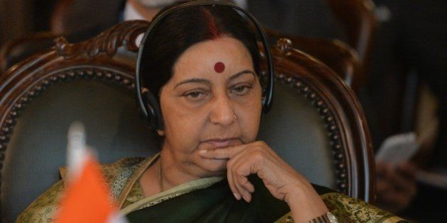 Indian Foreign Minister Sushma Swaraj attends the first day of the Heart of Asia conference in Islamabad...