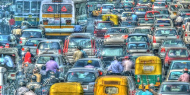 The metropolis of Delhi was not planned for this volume of traffic. Clogged roads with buses, cars, autorickshaws,...