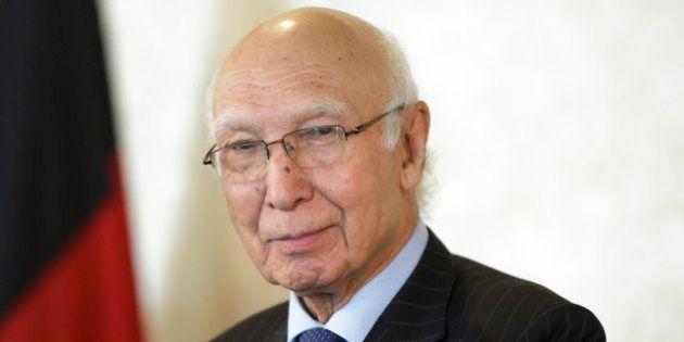 ISLAMABAD, PAKISTAN - AUGUST 30: Advisor to Pakistani Prime Minister on Foreign Affairs, Sartaj Aziz,...
