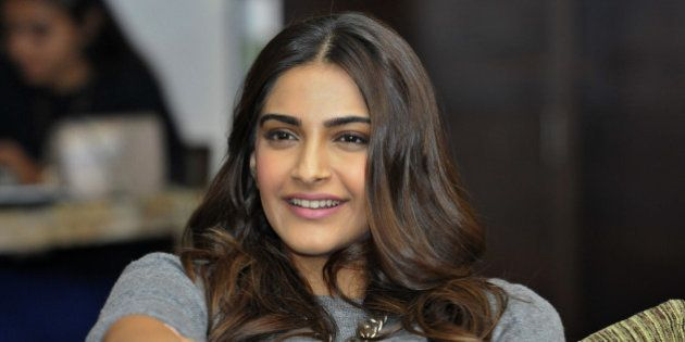 CHANDIGARH, INDIA - NOVEMBER 23: Bollywood actress Sonam Kapoor, during the function HT Youth Forum 30...