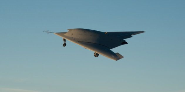 ISTRES, FRANCE: In this undated handout image supplied by Dassault Aviation on June 12, 2014, The nEUROn,...