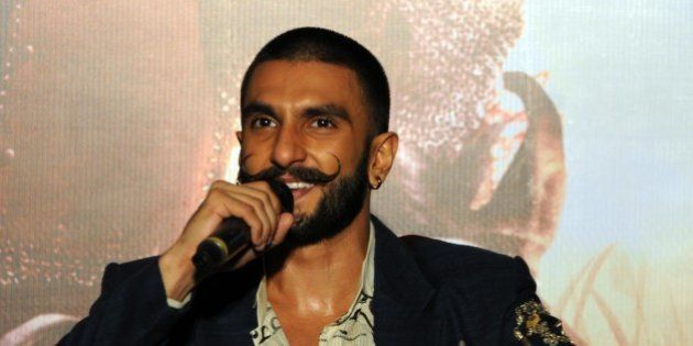 BHOPAL, INDIA - NOVEMBER 28: Bollywood actor Ranveer Singh interacts with the media during an interview...