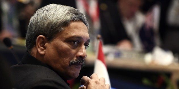 India's Minister of state for Defense Manohar Parrikar takes part in the third Association of Southeast...