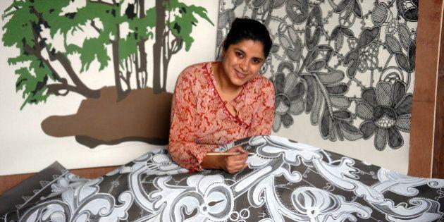 INDIA - AUGUST 30: Hema Upadhyay, Artist at her Studio in Mumbai, Maharashtra, India ( for IT Woman Magazine...