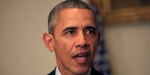 WASHINGTON, DC - DECEMBER 10: U.S. President Barack Obama makes a statement on the climate agreement...