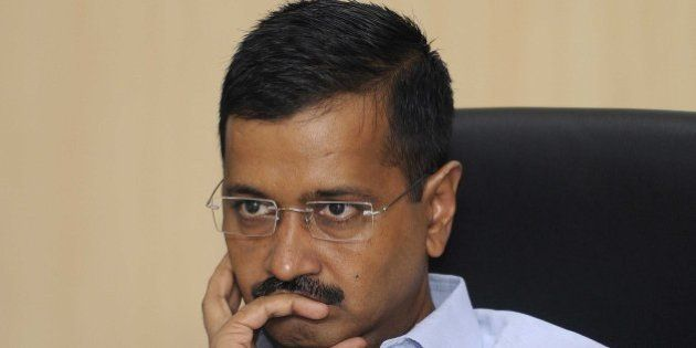 NEW DELHI, INDIA - JULY 29: Chief Minister of Delhi Arvind Kejriwal during a seminar and conference on the issue of Delhi Transport Vision at Delhi Secretariat on July 29, 2015 in New Delhi, India. Kejriwal said, 'We feel that in Delhi, it BRT (Bus Rapid Transit) was a good concept but it was implemented badly here.' Delhi government announced that it will introduce the Bus Rapid Transit (BRT) model in an improved form in the national capital. (Photo By Sonu Mehta/Hindustan Times via Getty Images)