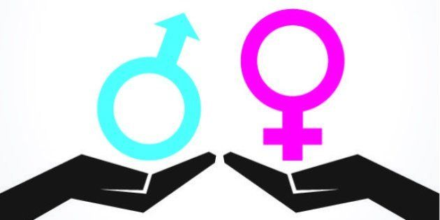 Illustration of male and female icon on