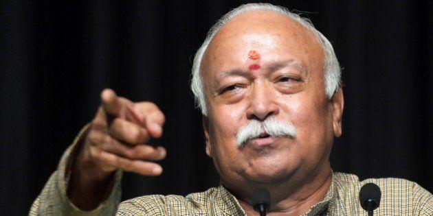 Indian Hindu nationalist organisation Rashtriya Swayamsevak Sangh (RSS) Sarsanghchalak or Chief, Mohan...
