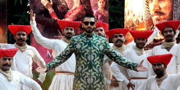 Bollywood actors Ranveer Singh attends a promotional event for the upcoming Hindi film 'Bajirao Mastani'...
