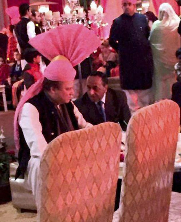 At Granddaughter's Wedding Sharif Wears A Gift From