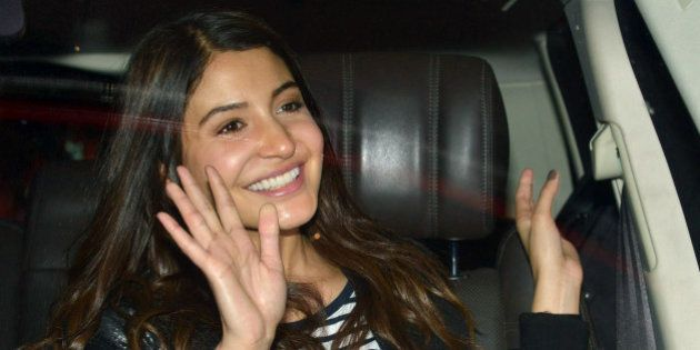 MUMBAI, INDIA OCTOBER 15: Anushka Sharma spotted at Mumbai airport.(Photo by Milind Shelte/India Today...