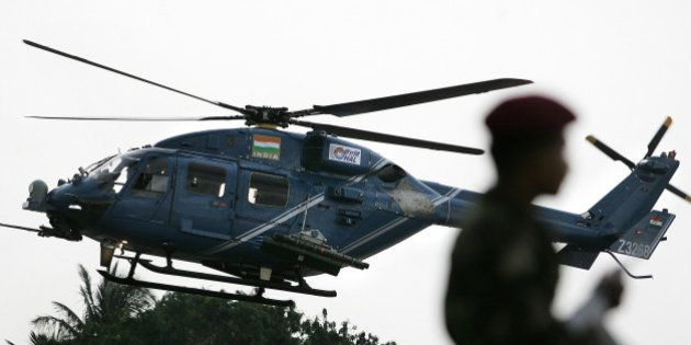 (FILES) In this photograph taken on August 17, 2007, an Indian Army officer stands guard as the weaponised...
