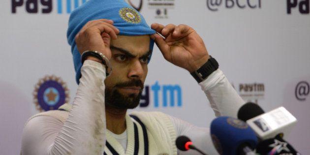 NEW DELHI, INDIA DECEMBER 03: India cricket team captain Virat Kohli during during a practice session...