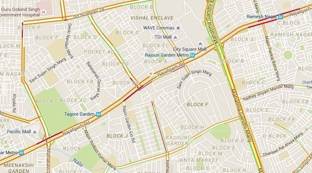 These 6 Maps Show Odd Even Rule Has Reduced Traffic In